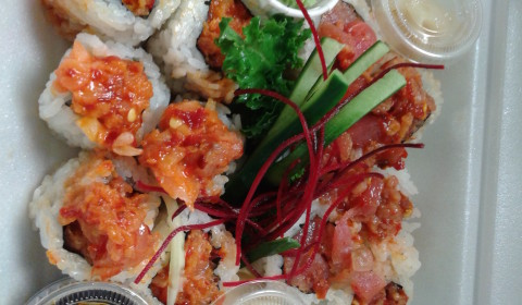 Spicy Salmon & Spicy Tuna Roll